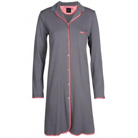 Chemise de nuit boutonnée 100% coton ESSENTIEL 505 vison