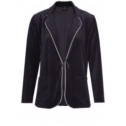 Veste homewear en velours KITTEN 571 noir