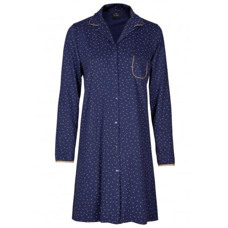 Chemise de nuit boutonnée 100% coton AMBRE 705