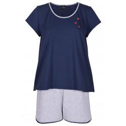 Pyjama pantacourt en coton