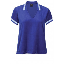 Polo en velours COLETTE 830 Pacific