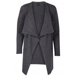 Cardigan drapé 100% CACHEMIRE anthracite