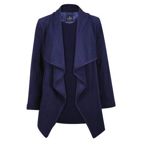 Veste homewear en polaire ESSENTIEL 352 bleu nuit