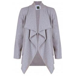 Veste homewear en polaire ESSENTIEL 352 gris chiné