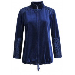 Veste homewear zippée en velours DARLING 302