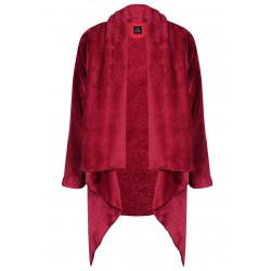 Veste homewear drapée en fourrure ESSENTIEL 371 griotte