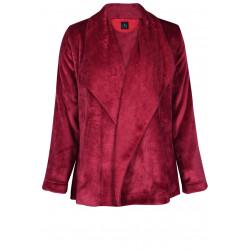 Veste homewear drapée en fourrure ESSENTIEL 373 griotte