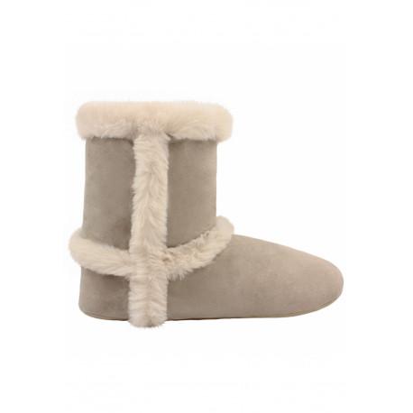 Chaussons Boots FOURRURE écru