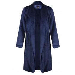 Veste homewear longue en fourrure ESSENTIEL 366 marine