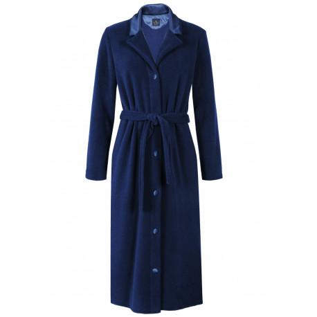 Robe de chambre boutonnée en polaire ESSENTIEL 353 bleu nuit