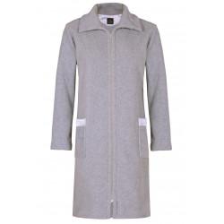 Robe de chambre zippée en polaire ESSENTIEL 354 gris chiné