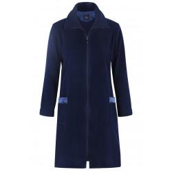 Robe de chambre zippée en polaire ESSENTIEL 154 bleu nuit