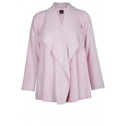 Veste homewear drapée en fourrure ESSENTIEL 173 bois de rose