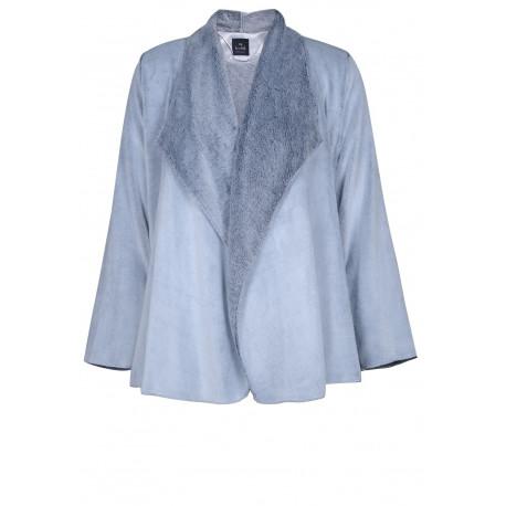 Veste homewear drapée en fourrure ESSENTIEL 173 gris
