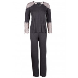 Pyjama dentelle IN LOVE 502 anthracite