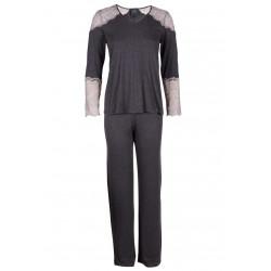 Pyjama dentelle IN LOVE 502 anthracite